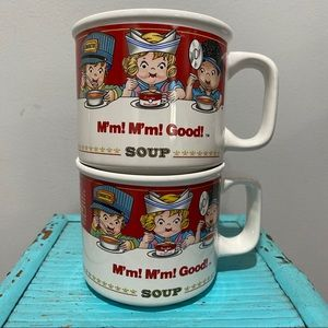 Vintage 1993 (2) Set of Campbell's Soup Mugs